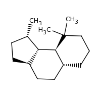 2d structure of (1S,3aR,5aR,9aS,9bS)-1,9,9-trimethyl-dodecahydro-1H-cyclopenta[a]naphthalene