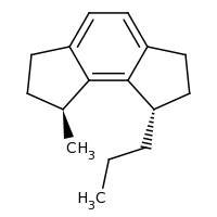 2d structure of (1S,8S)-1-methyl-8-propyl-1,2,3,6,7,8-hexahydroas-indacene