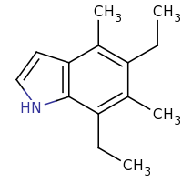 2d structure of 5,7-diethyl-4,6-dimethyl-1H-indole