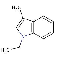 2d structure of 1-ethyl-3-methyl-1H-indole