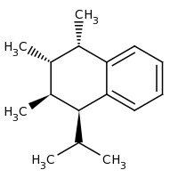 2d structure of (1S,2S,3S,4S)-1,2,3-trimethyl-4-(propan-2-yl)-1,2,3,4-tetrahydronaphthalene
