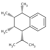 2d structure of (1S,2S,3R,4R)-1,2,3-trimethyl-4-(propan-2-yl)-1,2,3,4-tetrahydronaphthalene