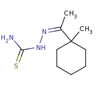 2d structure of [(Z)-[1-(1-methylcyclohexyl)ethylidene]amino]thiourea