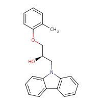 2d structure of (2R)-1-(9H-carbazol-9-yl)-3-(2-methylphenoxy)propan-2-ol
