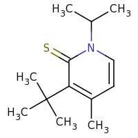 2d structure of 3-tert-butyl-4-methyl-1-(propan-2-yl)-1,2-dihydropyridine-2-thione