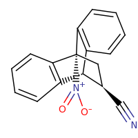 2d structure of (15R)-8-nitrotetracyclo[6.6.2.0^{2,7}.0^{9,14}]hexadeca-2(7),3,5,9(14),10,12-hexaene-15-carbonitrile