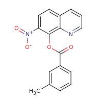 2d structure of 7-nitroquinolin-8-yl 3-methylbenzoate