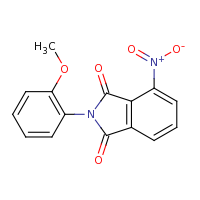 2d structure of 2-(2-methoxyphenyl)-4-nitro-2,3-dihydro-1H-isoindole-1,3-dione