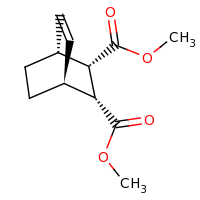 2d structure of 2,3-dimethyl (1R,2S,3R,4S)-bicyclo[2.2.2]oct-5-ene-2,3-dicarboxylate