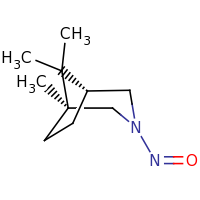 2d structure of (1S,5R)-1,8,8-trimethyl-3-nitroso-3-azabicyclo[3.2.1]octane
