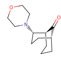 2d structure of (1S,2S,5R)-2-(morpholin-4-yl)bicyclo[3.3.1]nonan-9-one