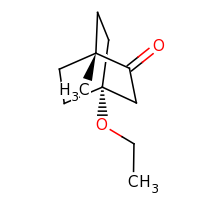 2d structure of 4-ethoxy-1-methylbicyclo[2.2.2]octan-2-one