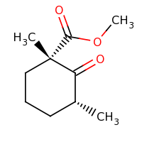 2d structure of methyl (1S,3R)-1,3-dimethyl-2-oxocyclohexane-1-carboxylate