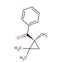 2d structure of phenyl[(1S)-1,2,2-trimethylcyclopropyl]methanone