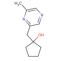 2d structure of 1-[(6-methylpyrazin-2-yl)methyl]cyclopentan-1-ol