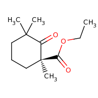 2d structure of ethyl (1S)-1,3,3-trimethyl-2-oxocyclohexane-1-carboxylate