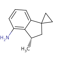 2d structure of (3'S)-3'-methyl-2',3'-dihydrospiro[cyclopropane-1,1'-indene]-4'-amine