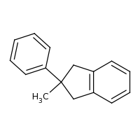 2d structure of 2-methyl-2-phenyl-2,3-dihydro-1H-indene
