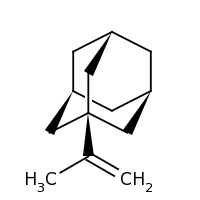 2d structure of 1-(prop-1-en-2-yl)adamantane