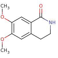2d structure of 6,7-dimethoxy-1,2,3,4-tetrahydroisoquinolin-1-one