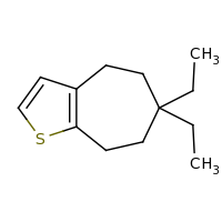 2d structure of 6,6-diethyl-4H,5H,6H,7H,8H-cyclohepta[b]thiophene