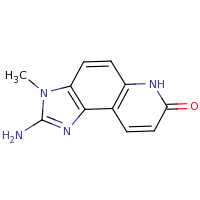 2d structure of 2-amino-3-methyl-3H,6H,7H-imidazo[4,5-f]quinolin-7-one