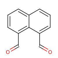 2d structure of naphthalene-1,8-dicarbaldehyde