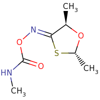 2d structure of [(2S,4Z,5R)-2,5-dimethyl-1,3-oxathiolan-4-ylidene]amino N-methylcarbamate