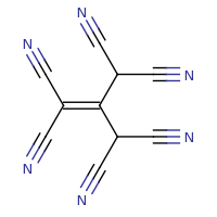 2d structure of 2-(dicyanomethyl)prop-1-ene-1,1,3,3-tetracarbonitrile
