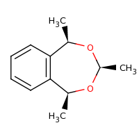 2d structure of (1R,3S,5S)-1,3,5-trimethyl-3,5-dihydro-1H-2,4-benzodioxepine