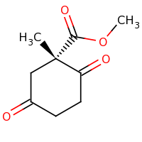 2d structure of methyl (1S)-1-methyl-2,5-dioxocyclohexane-1-carboxylate