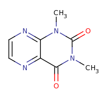 2d structure of 1,3-dimethyl-1,2,3,4-tetrahydropteridine-2,4-dione