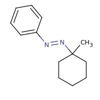 2d structure of (E)-(1-methylcyclohexyl)(phenyl)diazene