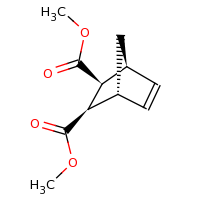2d structure of 2,3-dimethyl (1R,2R,3S,4S)-bicyclo[2.2.1]hept-5-ene-2,3-dicarboxylate