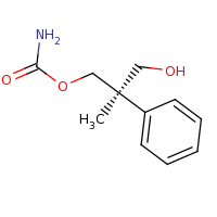 2d structure of (2R)-3-hydroxy-2-methyl-2-phenylpropyl carbamate