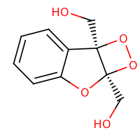 2d structure of [(2S,5R)-2-(hydroxymethyl)-3,4,6-trioxatricyclo[5.4.0.0^{2,5}]undeca-1(11),7,9-trien-5-yl]methanol