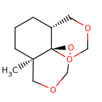 2d structure of (1R,6R,10R)-6-methyl-2,4,12,14-tetraoxatricyclo[8.4.0.0^{1,6}]tetradecane