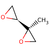 2d structure of (2R)-2-methyl-2-[(2S)-oxiran-2-yl]oxirane