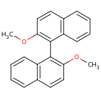 2d structure of 2-methoxy-1-(2-methoxynaphthalen-1-yl)naphthalene