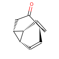 2d structure of (1R,2R,5S,8S)-tricyclo[3.3.2.0^{2,8}]deca-6,9-dien-4-one