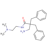 2d structure of 3-amino-2,2-dibenzyl-N-[2-(dimethylamino)ethyl]propanamide