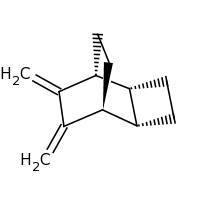 2d structure of (1R,2R,5S,6S)-7,8-dimethylidenetricyclo[4.2.2.0^{2,5}]decane