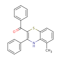 2d structure of 2-benzoyl-5-methyl-3-phenyl-4H-1,4-benzothiazine