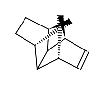 2d structure of (1R,2S,3R,6S,7R,8S)-tetracyclo[6.2.1.1^{3,6}.0^{2,7}]dodec-4-ene