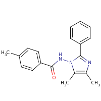 2d structure of N-(4,5-dimethyl-2-phenyl-1H-imidazol-1-yl)-4-methylbenzamide