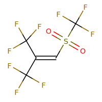 2d structure of 3,3,3-trifluoro-1-(trifluoromethane)sulfonyl-2-(trifluoromethyl)prop-1-ene