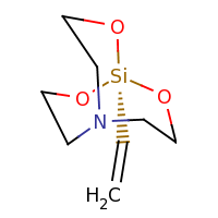 2d structure of 1-ethenyl-2,8,9-trioxa-5-aza-1-silabicyclo[3.3.3]undecane