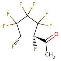 2d structure of 1-[(1R,5S)-1,2,2,3,3,4,4,5-octafluorocyclopentyl]ethan-1-one